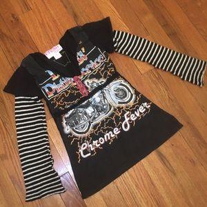 Fresh Karma Black Shirt with Sweater Sleeves